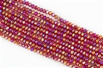 4x6mm Faceted Crystal Designer Glass Rondelle Beads - Light Siam AB