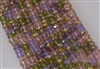 4x6mm Faceted Crystal Designer Glass Rondelle Beads - Spring Perennial Flowers Mix