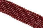 4x6mm Faceted Crystal Designer Glass Rondelle Beads - Ruby Red Opal