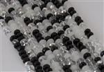 4x6mm Faceted Crystal Designer Glass Rondelle Beads - Winter Solstice Mix