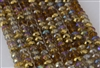5x8mm Faceted Crystal Designer Glass Rondelle Beads - Amber Glow Mix