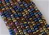 5x8mm Faceted Crystal Designer Glass Rondelle Beads - Arabian Tapestry Mix