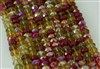 5x8mm Faceted Crystal Designer Glass Rondelle Beads - Autumn Leaves Mix