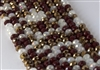 5x8mm Faceted Crystal Designer Glass Rondelle Beads - Bronze Cocoa Mix