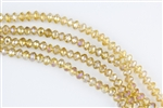 5x8mm Faceted Crystal Designer Glass Rondelle Beads - Champagne AB