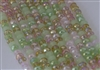 5x8mm Faceted Crystal Designer Glass Rondelle Beads - Sakura Cherry Blossom Mix