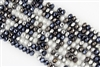 5x8mm Faceted Crystal Designer Glass Rondelle Beads - Denim Buckles Mix