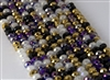 5x8mm Faceted Crystal Designer Glass Rondelle Beads - Royal Mix