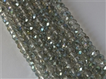 5x8mm Faceted Crystal Designer Glass Rondelle Beads - Sahara Green