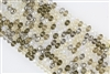 5x8mm Faceted Crystal Designer Glass Rondelle Beads - Tan Mix