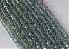 5x8mm Faceted Crystal Designer Glass Rondelle Beads - Veridian Green