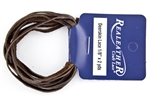"1/8"" (3mm) Soft Deerskin Lace - 2 Yards - Chocolate"