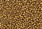 6/0 Czech Seed Beads - Etched Aztec Gold