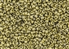 6/0 Czech Seed Beads - Etched Crystal Full Amber