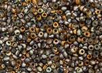 6/0 Czech Seed Beads - Etched Crystal Magic Copper