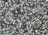 6/0 Czech Seed Beads - Etched Crystal Silver Rainbow