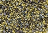 6/0 Czech Seed Beads - Etched Crystal Golden Rainbow