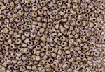 6/0 Czech Seed Beads - Etched Lilac Gold Luster