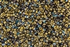 8/0 Czech Seed Beads - Etched Crystal Golden Rainbow