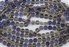 8x4mm Flower Czech Glass Beads - Smoky Grey Blue Iris Luster