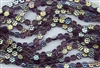 8x4mm Flower Czech Glass Beads - Transparent Purple Amethyst AB