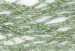 3mm Firepolish Czech Glass Beads - Aquamarine Celsian