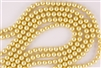 3mm Glass Round Pearl Beads - Champagne