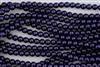 3mm Glass Round Pearl Beads - Dark Purple
