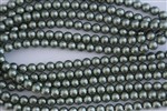 3mm Glass Round Pearl Beads - Dark Sage