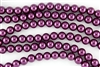 3mm Glass Round Pearl Beads - Wine