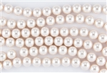 4mm Glass Round Pearl Beads - Baby Pink