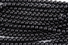 4mm Glass Round Pearl Beads - Black