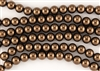 4mm Glass Round Pearl Beads - Bronze