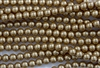 4mm Glass Round Pearl Beads - Khaki