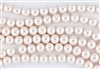 6mm Glass Round Pearl Beads - Baby Pink