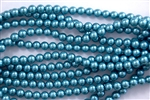 6mm Glass Round Pearl Beads - Montana