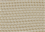 6mm Glass Round Pearl Beads - Off White / Cream