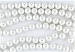 8mm Glass Round Pearl Beads - White