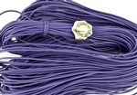 1.5mm Premium Greek Leather Cord - 5 Yards - Amethyst
