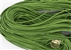 1.5mm Premium Greek Leather Cord - 5 Yards - Grass Green