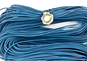 1.5mm Premium Greek Leather Cord - 5 Yards - Light Blue