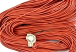 1.5mm Premium Greek Leather Cord - 5 Yards - Salmon