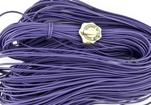 1.5mm Premium Greek Leather Cord - Sold by 1 Yard / 3 Feet - Amethyst