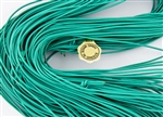 1.5mm Premium Greek Leather Cord - Sold by 1 Yard / 3 Feet - Aqua