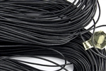 1.5mm Premium Greek Leather Cord - Sold by 1 Yard / 3 Feet - Black
