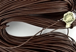 1.5mm Premium Greek Leather Cord - Sold by 1 Yard / 3 Feet - Brown