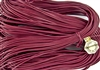 1.5mm Premium Greek Leather Cord - Sold by 1 Yard / 3 Feet - Dark Rose