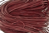 1.5mm Premium Greek Leather Cord - Sold by 1 Yard / 3 Feet - Garnet