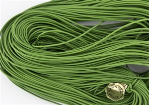 1.5mm Premium Greek Leather Cord - Sold by 1 Yard / 3 Feet - Grass Green
