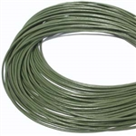 1.5mm Premium Greek Leather Cord - Sold by 1 Yard / 3 Feet - Olive